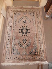 "Carpet rug oriental lilac 76x50"" 193x130cm nice and clean thick weave Turkish .8"