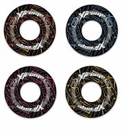 """42"""" XTREME SWIM RING INFLATABLE TYRE TUBE POOL WITH HANDLES CHOICE COLOURS"""