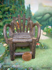 Twig Fantail Chair for Miniature Dollhouse Fairy/Faerie/Hobbit/Gnome Garden