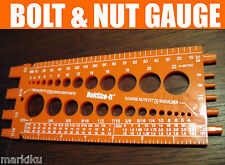 New orange Bolt & Nut Measuring gauge American US Metric thread pitch mm Inches