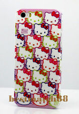for iphone 5 5s cute kitten hot pink purple white red face and bow + screen film