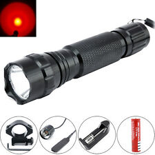 Ultrafire 501B 2000LM RED CREE LED 20mm Mount Tactical Flashlight Hunting Light