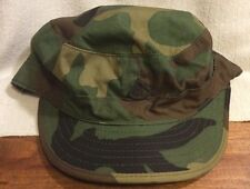 Camouflage Army Cap W/ Flaps And Pin