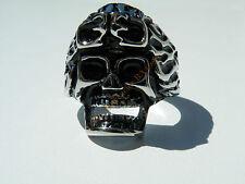 Bague 100% Acier Inox Tete Mort Biker Hard Skull Hard