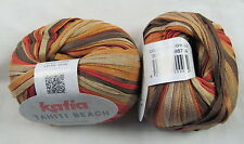 30% OFF! 50g Katia TAHITI BEACH Colorful Spring Summer Cotton Ribbon Yarn #303