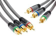 1.2 M Rgb Video Componente Hd Cable Lead Ypbpr Oro 4 Pies Rocketfish rf-g1207