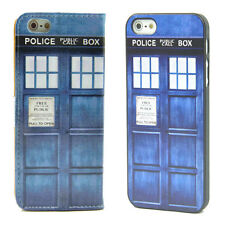Dr WHO Tardis British SciFi Wallet Leather Case + Cover For Apple iPhone 5 5S