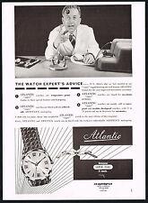 1950's Vintage 1955 E D Kummer Atlantic Super Flat Watch Expert Photo Print AD