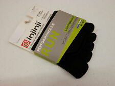 INJINJI TOE SOCKS RUN 2.0 LIGHTWEIGHT NO SHOW BLACK SIZE L