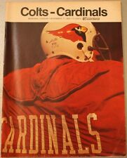 1968 Baltimore Colts St. Louis Cardinals Program Champs Unitas Smith