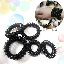 Lady Girl Elastic Rubber Telephone Wire Style Hair Ties Plastic Rope Hairband
