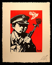 Shepard Fairey Chinese Soldiers Letterpress Poster Print Obey