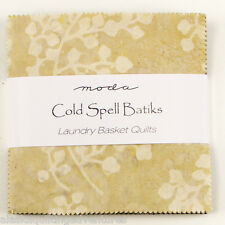 "Moda FABRIC Charm Pack ~ COLD SPELL BATIKS ~ Laundry Basket Quilts 5"" squares"