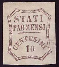 PARMA GOVERNO PROVVISORIO 1859 - 10 c. n. 14 NUOVO € 2.000
