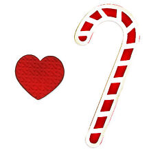 Sizzix Bigz Candy Canes die with FREE Embosslits Heart die #658182 Retail $19.99
