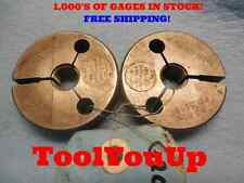 9/16 20 NS 2 THREAD RING GAGE GO NO GO .5625 P.D.'S = .2300 & .5259 TOOLING