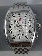 NEW Michele Releve Chronograph Watch MWW19A000019 Stainless Steel Band NIB