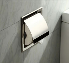 Polished Chrome Stainless Steel Bathroom Toilet Paper Holder Tissue Box Holder