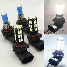 Combo 9006-55W-Halogen 9005-Samsung LED 30 SMD White Headlight #b1 Light Bulbs