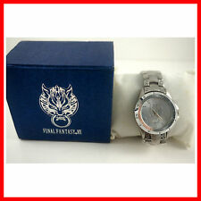 RARE FS Final Fantasy VII 7 FF7 Cloud Wolf Stainless Wrist Watch In Box + Badge