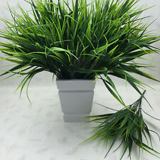 Artificial Fake Plastic Green Grass Plant Flowers Office Home Garden Decor FT