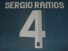 Spanish La Liga  2012-2013 Real Madrid #4 Sergio Ramos Awaykit NameSet Printing