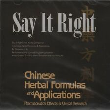 Say It Right CD - Chinese Herbal Formulas and Applications (2008, CD-ROM)