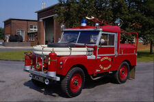 779078 1955 SWB Land Rover Series One Industrial Fire Appliance A4 Photo Print
