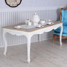 TABLE DE SALLE À MANGER À STYLE MAISON CAMPAGNE CUISINE VINTAGE EN BOIS BLANC