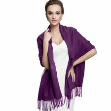 Fashion women Long Solid Cashmere Pashmina Scarf Wrap Shawl color Dark Purple