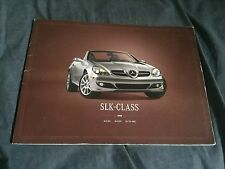 2008 Mercedes Benz SLK Full Line USA Market Large Brochure Catalog Prospekt