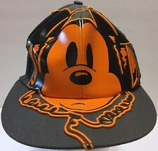 Mickey Mouse Earphones Gray Orange Flexible Fit Hat DJ Music Disney Parks Resort