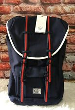 Herschel Backpack School back pack Bag Little America 23.5L- blue red rubber
