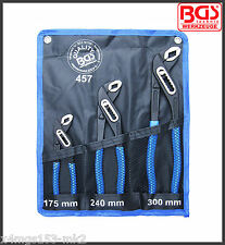 BGS - Waterpump Pliers Set, Box-Joint - 175 - 240 & 300 mm - Pro Range - 457