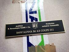 BMW Alpina E36 E31 E32 E34 E39 console dash plate B3 B6 B8 B10 B11 B12 BITURBO