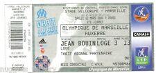Billet  / Place  OM Olympique de Marseille -OM vs  AJ Auxerre  ( 053 )