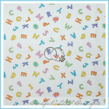 BonEful Fabric Cotton Quilt White Rainbow Alphabet Letter Baby Boy Nursery SCRAP