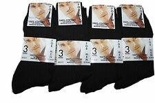 24 pairs mens 100% cotton black socks/uk size 6-11