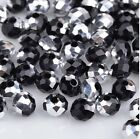 NEW Jewelry Faceted 100 pcs Silver Black #5040 3x4mm Roundelle Crystal Beads !!!