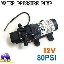 12V 80Psi Water Pump High Pressure Self-Priming Caravan Camping Boat New AU