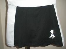 RUNNINGSKIRTS.COM BLACK/WHITE ATHLETIC SKIRT W/COMPRESSN SHORTS SZ 0 TEEN 12-16