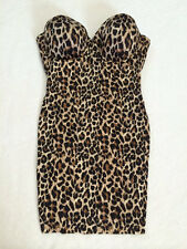 Victoria's Secret Power Figure 36D Cupped Shaping Slip Brown Leopard No Straps