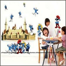THE SMURFS Wall Stickers Art Decal REMOVABLE KIDS MOVIE Nursery Boy Girl Bedroom