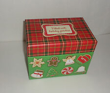 Hallmark Christmas Cookies Candy Cake Gingerbread Man Recipe Box Recipe Cards