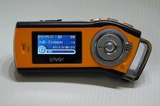 iRiver T10 Orange Yellow 1GB MP3 Player FM Tuner Voice Recorder Battery Good