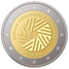LETONIA  2 euro 2015 PRESIDENCIA EUROPEA - Latvia - Lettland - Latvijas