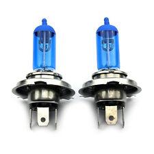 2 x h4 55w BLUE XENON ALOGENA temperatura 8500k ANABBAGLIANTI AUTO LAMPADA LAMPADE