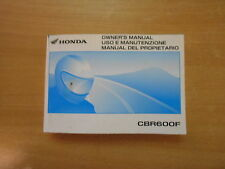 Uso e manutenzione - Owner´s manual Honda CBR 600 F PC35 (2005-2010)