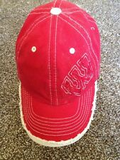 Red Wisconsin Badgers Baseball Cap Hat Adjustable  Distressed Look GXN