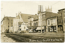 RPPC NY Troy Junction River St & Fifth Ave Stores Rensselaer County